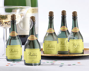 """Champagne Bottle Bubble Favors"""