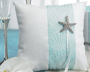 """Seaside Allure Ring Pillow """