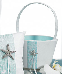 """Seaside Allure Flower Girl Basket """