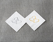 """Two Hearts 7"" Cocktail Napkins"""