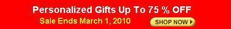 """Personalized Gifts Up To 75% OFF"""